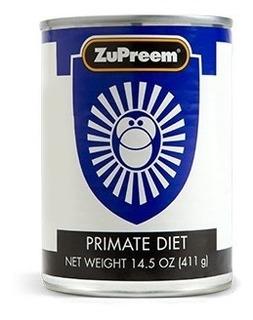 Alimento Zupreem Para Primates Medianos Y Grandes, Mono Araña, Saraguato, Capuchinos, Lémures Y Otros, Lata 411 Gr.