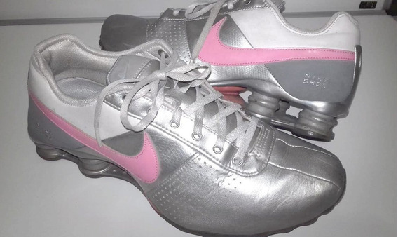 Tenis Nike Shox Deliver Run Training Prata E Pink