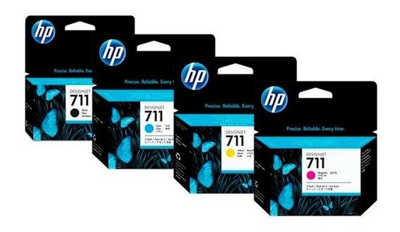 Pack Hp Tintas 711 Black 38ml Y Colores 29ml