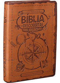 Bíblia Das Descobertas Para Adolescentes - Couro Marrom Sbb