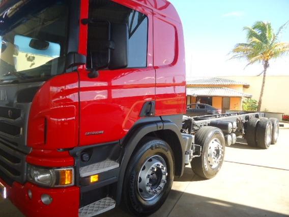 Scania P310-4ºeixo-2014-chassis -completa-talismã Caminhões