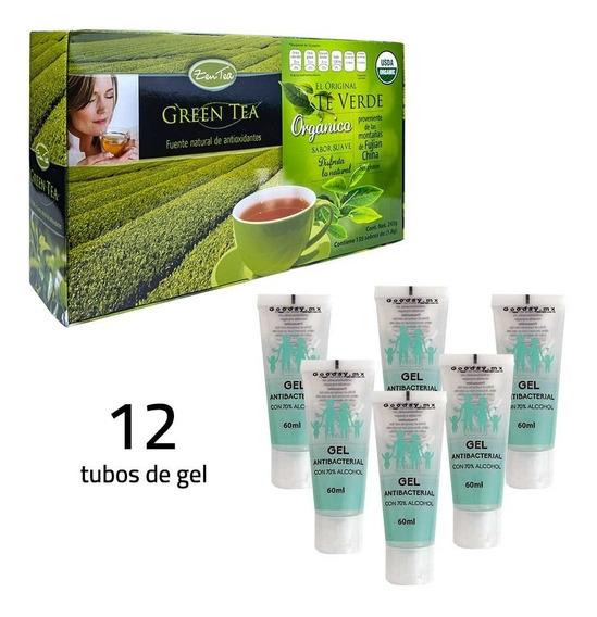 Te Verde Orgánico Zentea + Paquete Gel Antibacterial