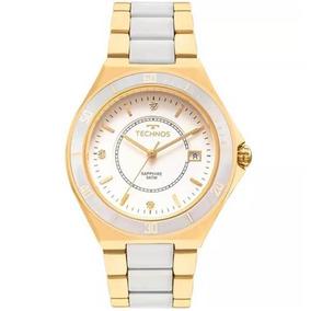 Relógio Feminino Technos Sapphire 2115mmn/4b Dourado