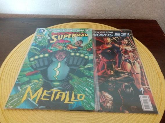 Hq Vilania Eterna Os Novos 52 Superman Metallo + Preview