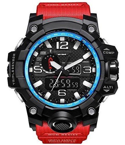 Bounabay, Reloj Militar Deportivo Digital Para Hombre, Resis