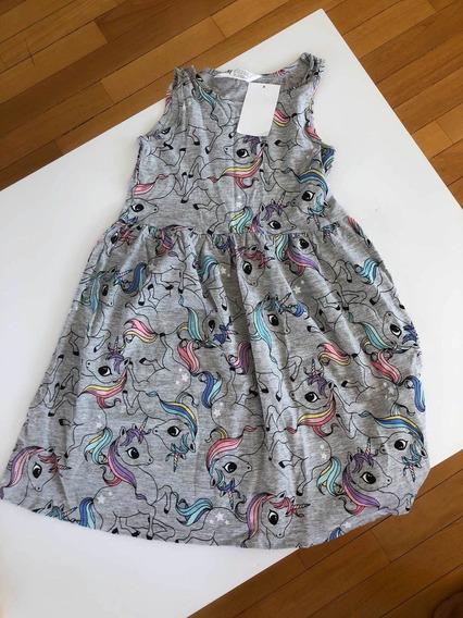 Vestido Hm Nena Unicornios Talle 6-8