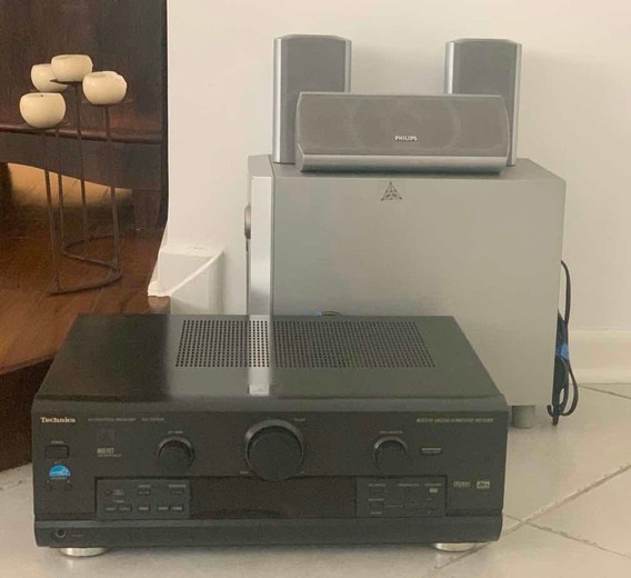 H Theater- Receiver Technics, Subwoofer E 3 Cxs Som Philips.