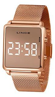 Relógio Unissex Lince Led Pulseira Em Aço Ref. Mdr4619l-bxrx