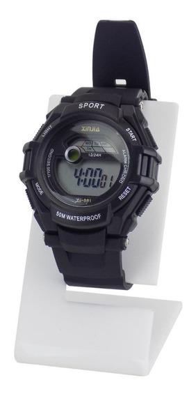 Relógio Unissex Digital Preto Á Prova D´água C/ Nf - Krs37