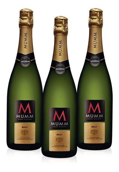 Kit Espumante Mumm Brut 750ml - 3 Unidades
