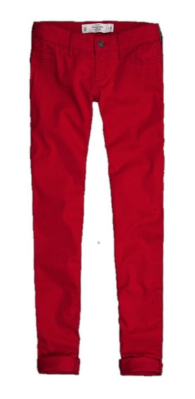 Jean Abercrombie And Fitch! Rojo! W30 L32 Nuevo! Made In Usa