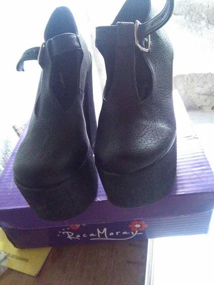 Vendo Zapatos Con Plataforma Talle 35 Impecables!!!!!