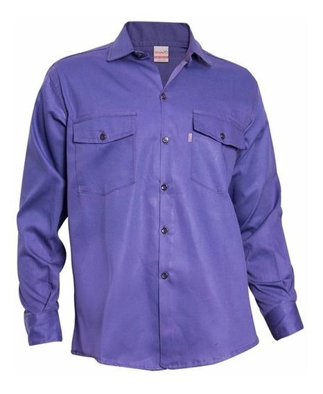 Kit Camisa Y Pantalón De Trabajo Grafa 70 Azul Marino