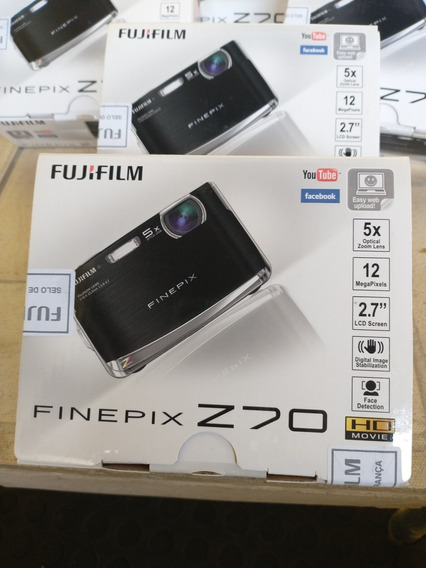 Máquina Digital Fujiifilm Z 70 Nova Lacrada Grava Vídeo