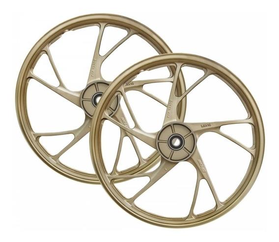 Roda Liga Leve Titan Fan 150 Ks Es 04/13 Mod 160 Ex Dourada