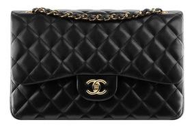 Bolsa Chanel Classic Flap Original Lambskin Ou Caviar Media