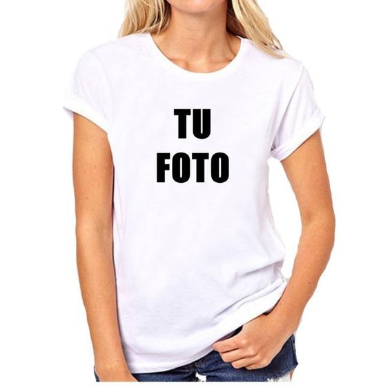 Remera Dama - Personalizada Con Tu Foto Familia Evento Logo
