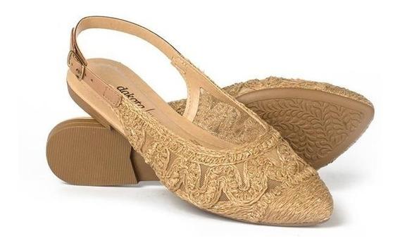Sapato Feminino Dakota Nude G1492 Sapatilha Luxo