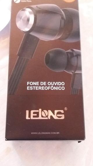Fone De Ouvido Lelong Estereofônico Preto