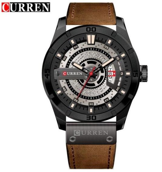 Relógio Masculino Curren 8301 Couro Executivo
