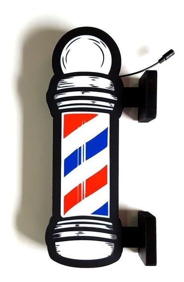 Barber Pole Dupla Face 43cm Luminoso Led Bar