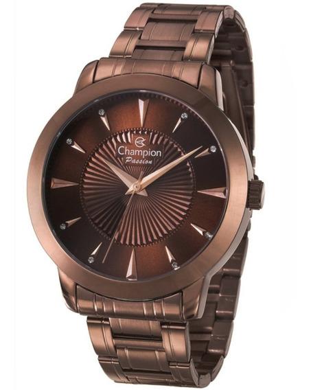 Relógio Feminino Champion Analógico Cn29258r - Marrom
