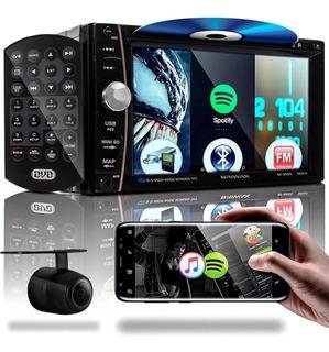 Mp5 Automotivo 7 Touch 2 Din Bluetooth Fm Dvd Usb Câmera Ré