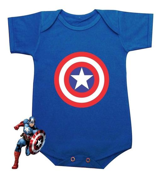 Body Bebê Capitão América
