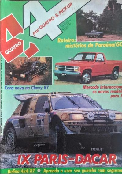 Revista 4x4 Nº39 Março 1987 Poster: Caminhão No Paris- Dacar