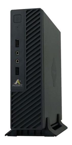 Computador Accept Mini Smart, Pentium, J2900, 4gb, Ssd 120gb
