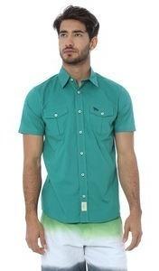 Camisa Com Bolsos. Verde. Acostamento