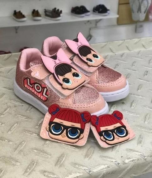 Tênis Infantil Boneca Velcro Troca Carinha - Promoção