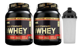 2x Whey Gold Standard 907g + 20% ( 1090g ) On + Coquet Brind