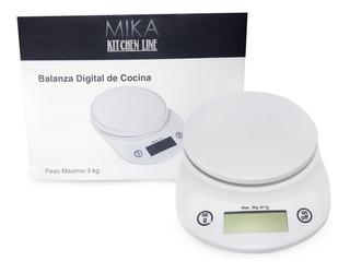 Balanza Digital De Cocina 5 Gr A 3 Kg A Pila Función Tara