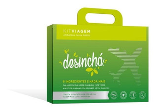 Desinchá 20 Saches - Chá Emagrecedor - Original - Kit Viagem