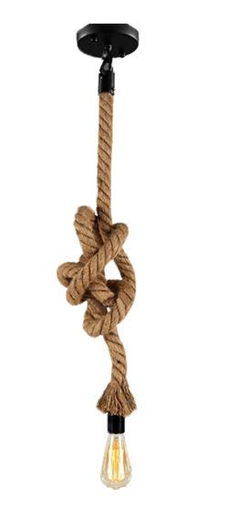 Hemp Rope Vintage Pendant Light Ac90-260v E27 Loft Personali