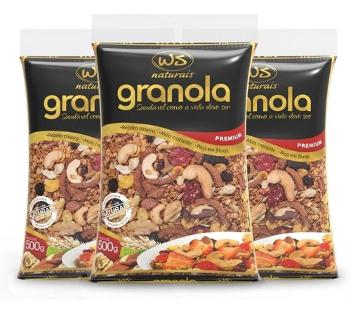 Imagem 1 de 2 de Granola Premium Ws Naturais 500g ( 3 Und )