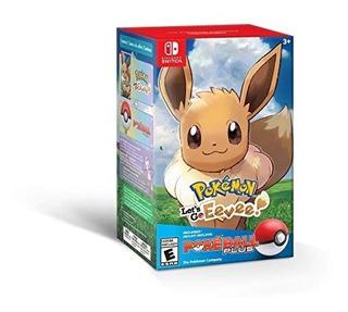 Pokemon Lets Go Eevee + Pokeball Plus Fisico Sellado