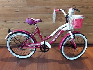 Bicicleta Roller Linda Rodado 20 Para Chicas