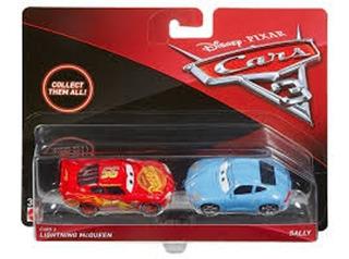 Cars 3 - Rayo Y Sally - Die Cast - Metal - 1:55 - Mattel!