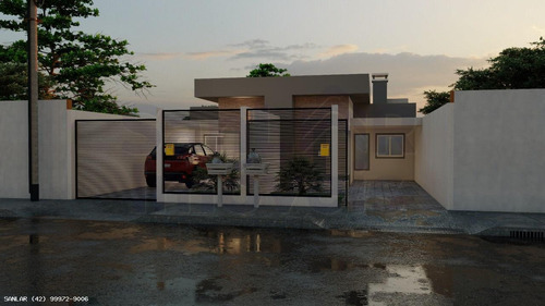 Casa Para Venda Em Ponta Grossa, Canaã, 3 Dormitórios, 1 Suíte, 2 Banheiros, 1 Vaga - _1-1814381