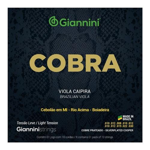 Imagem 1 de 1 de Encordoamento Cobra Viola Leve Mi Cebolao - Giannini