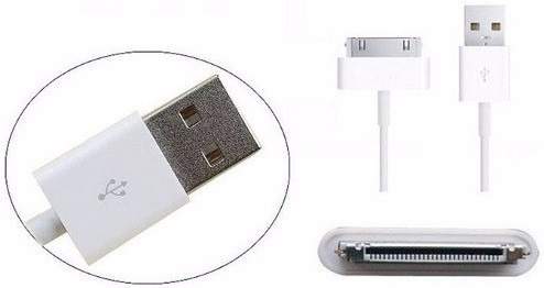Cable Cargador Certificado Usb iPhone 4 4s iPad iPod