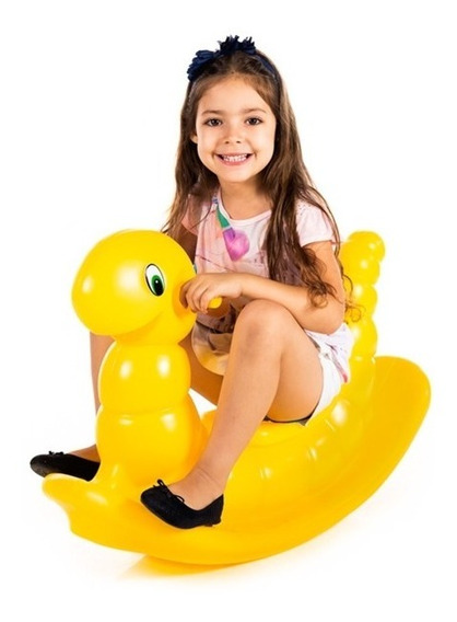 Gangorra Cavalinho Infantil Nhoca Amarela -compre 1 P/ Vez