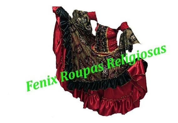 Conj Pomba Gira Luxo Roupas/ Santo/orixás Umbanda/candomblé