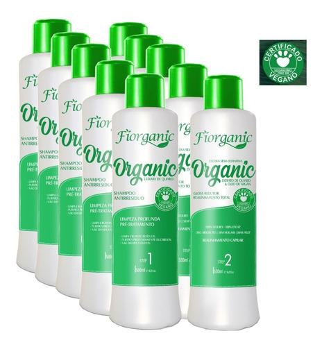Imagem 1 de 2 de Escova 0% Formol Fiorganic - 500ml - 5 Kits - Fiorganic