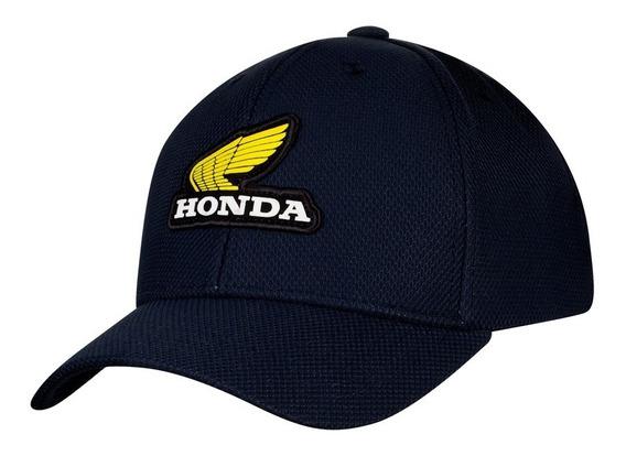 Boné Sport Moto Honda - Patch - Azul - Coleção Vintage
