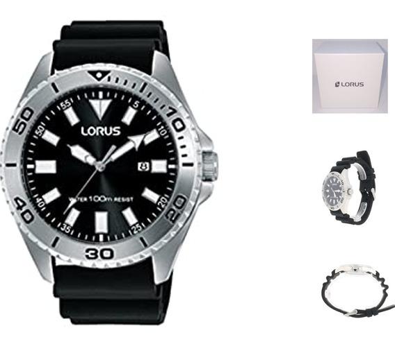 Reloj Lorus Rh933 9 Hombre Correa Negra Resina Wr100
