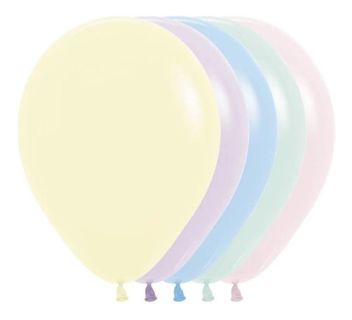 Globos R-12 Pastel Mate Surtido X 50 -sempertex