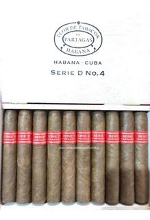 Habanos Partagas Serie D No. 4 Caja 10 Unidades Puros Cubano